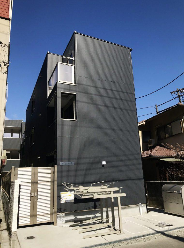 東淀川区大桐(木造3階建共同住宅12戸)H30.2.28竣工