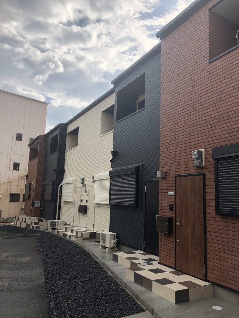 此花区四貫島(木造2階建長屋共同住宅ロフト付6戸)R1.8.31竣工