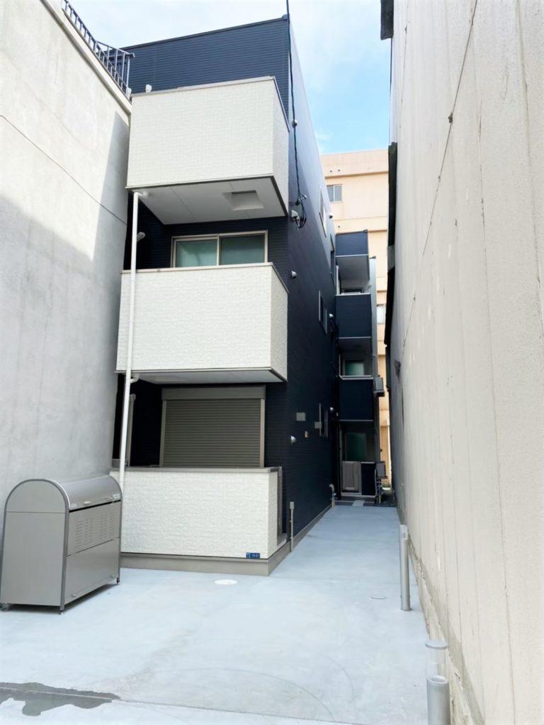 西成区鶴見橋(木造3階建共同住宅6戸)R2.4.30竣工
