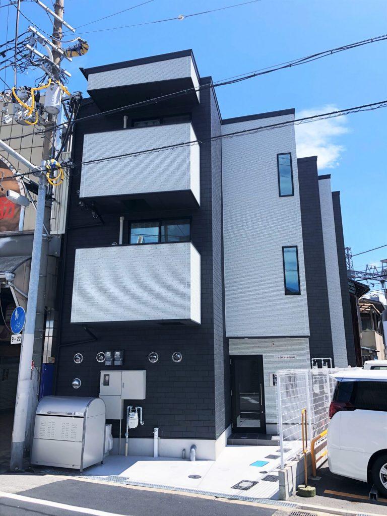 此花区四貫島(木造3階建共同住宅5戸+店舗)R2.5.31竣工